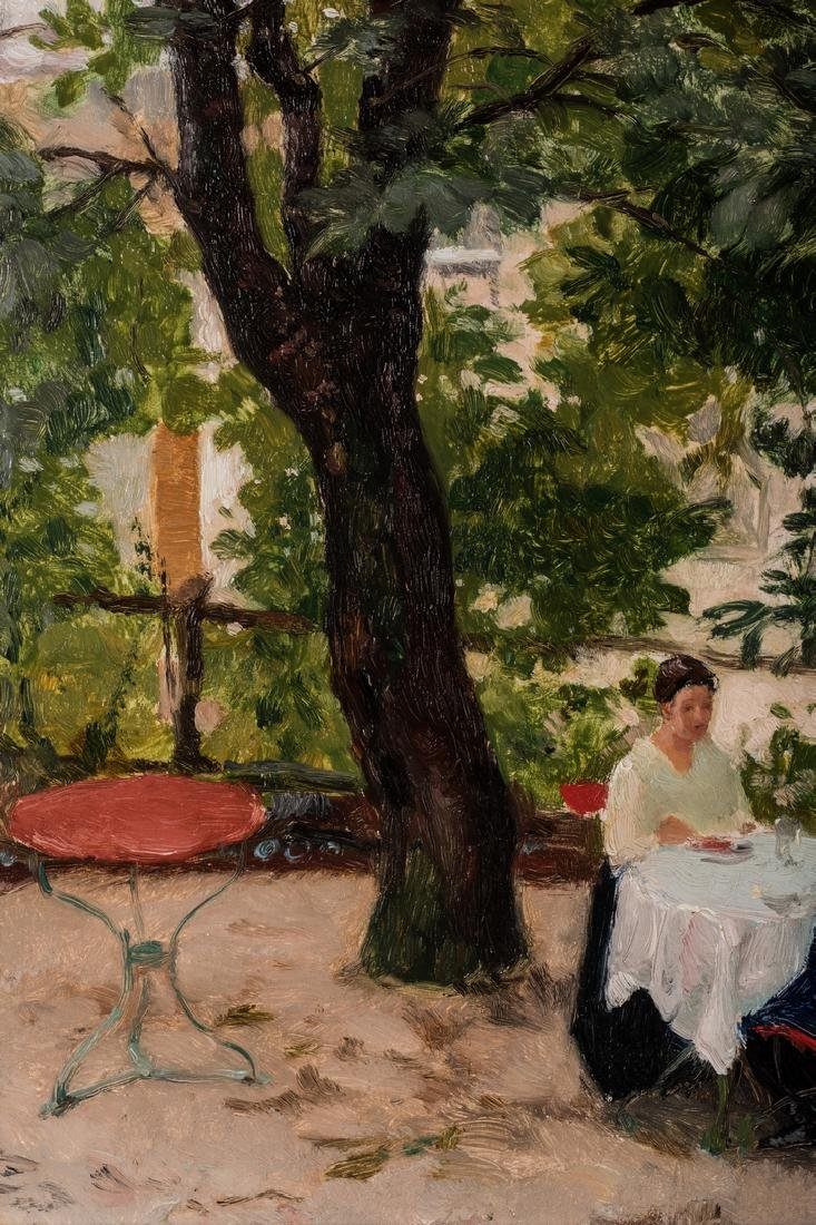 Franz Windhager oil, Dining on a Terrace - 7