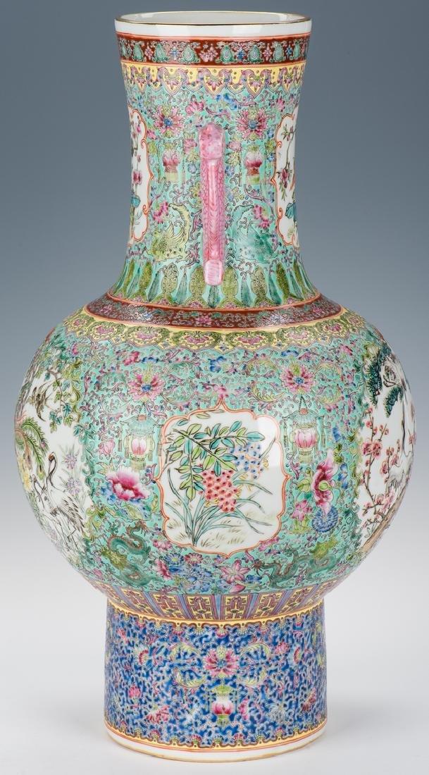 Large Chinese Porcelain Famille Rose Vase w/ Fish - 4
