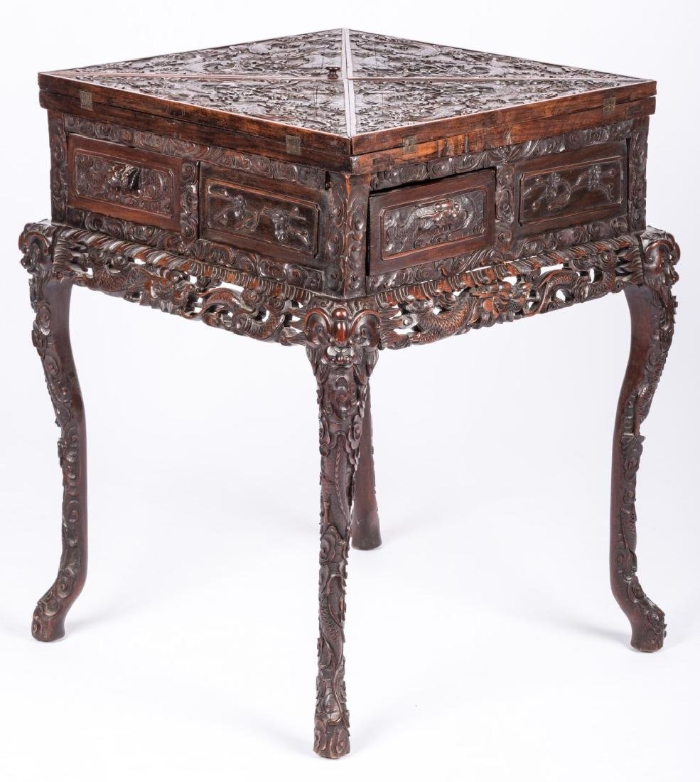 Chinese Hardwood Games Table - 3