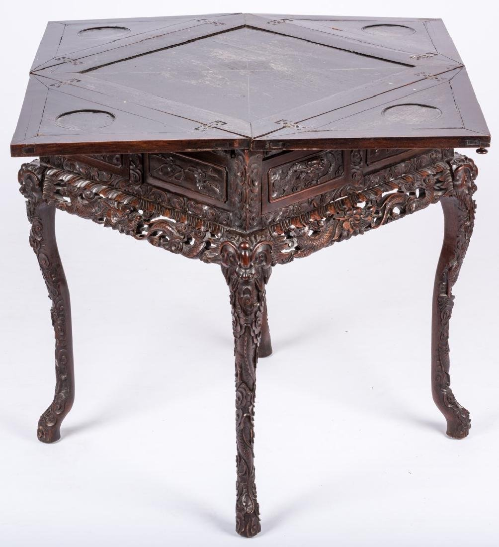 Chinese Hardwood Games Table - 9