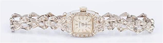 Ladies 14K Diamond Bracelet Watch