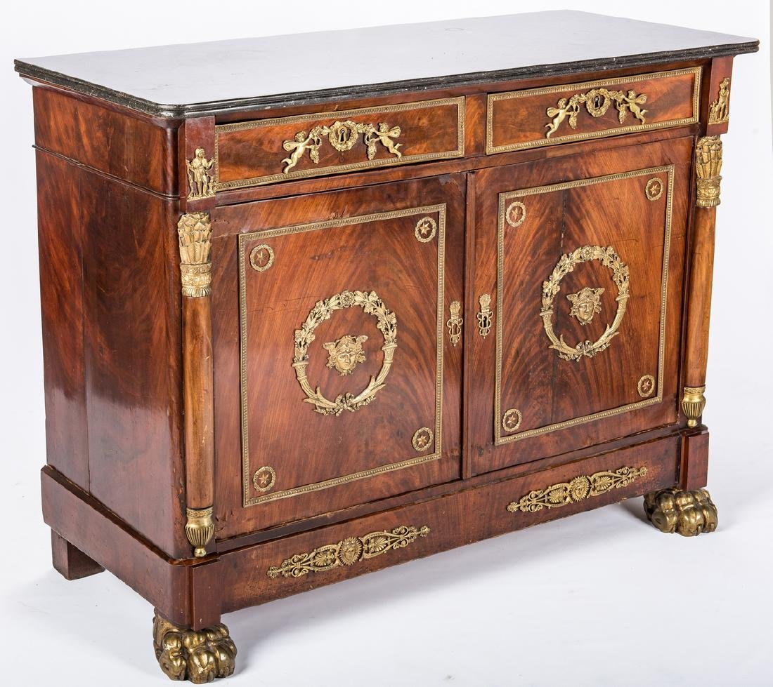 French Ormolu Mounted Sideboard - 2