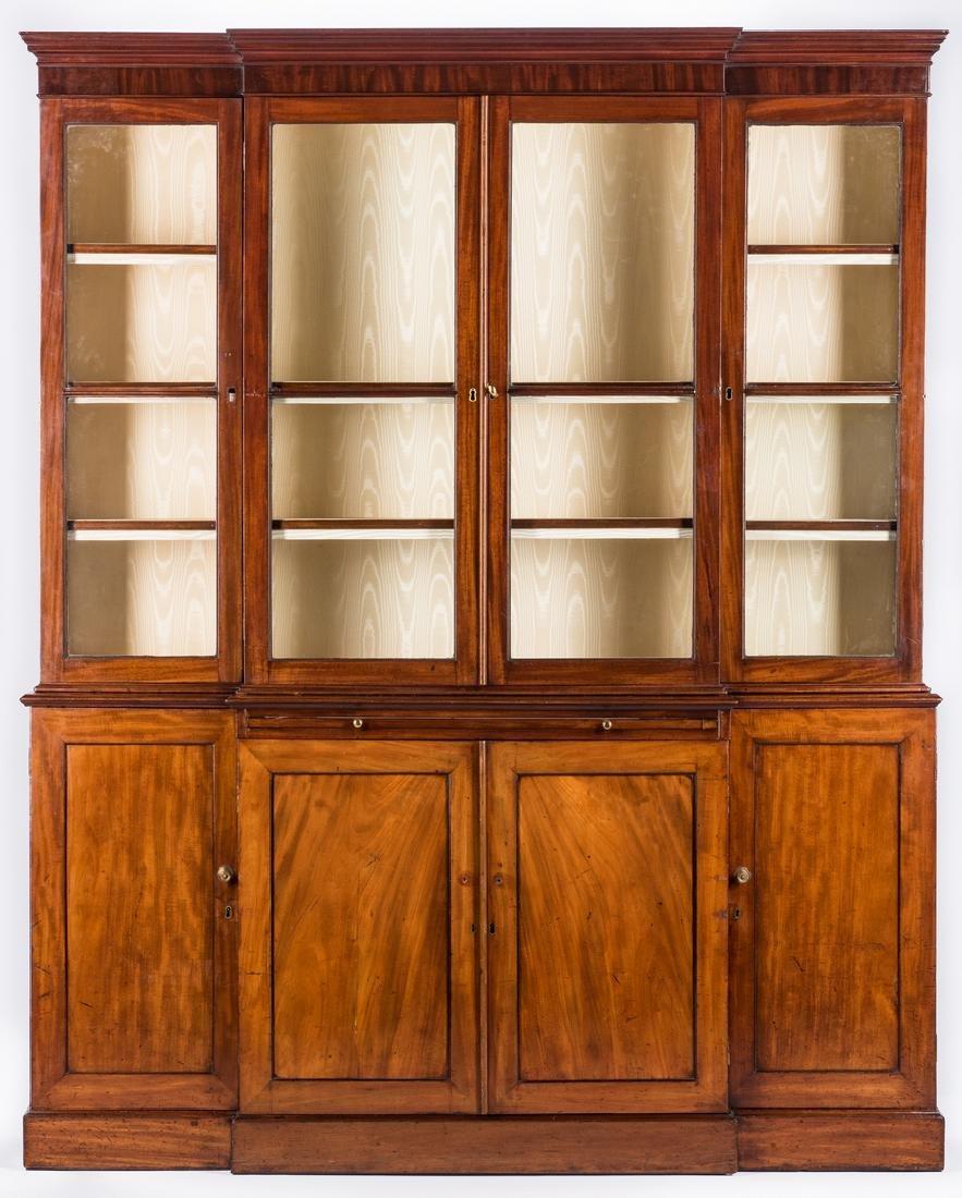 Diminutive Regency Breakfront Bookcase