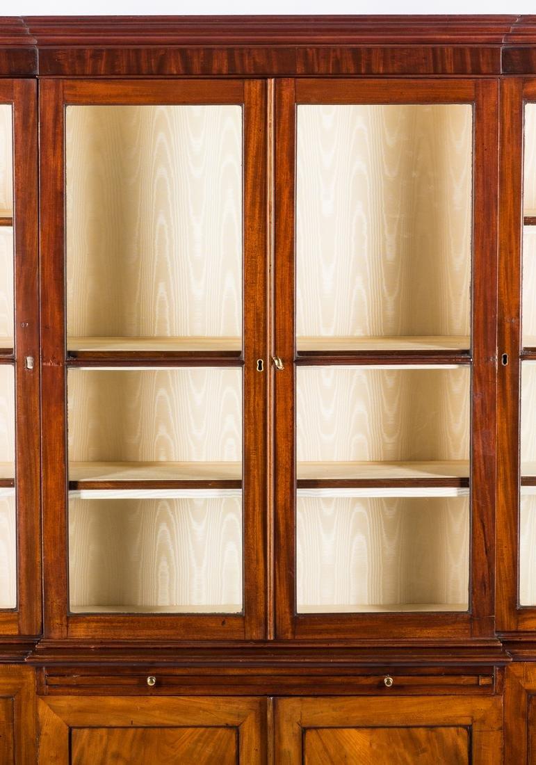 Diminutive Regency Breakfront Bookcase - 2