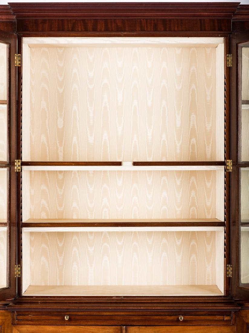 Diminutive Regency Breakfront Bookcase - 3