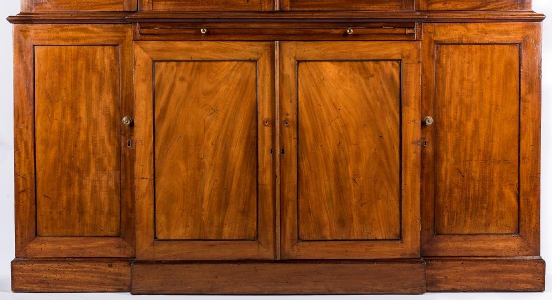 Diminutive Regency Breakfront Bookcase - 4