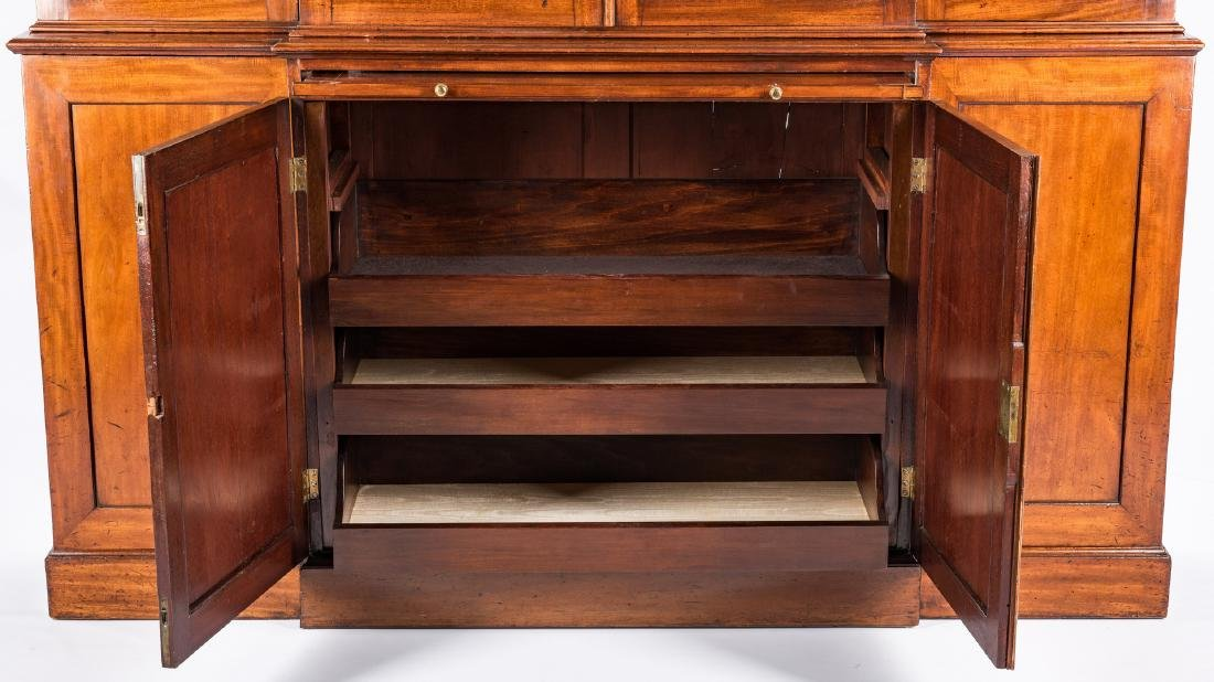 Diminutive Regency Breakfront Bookcase - 5