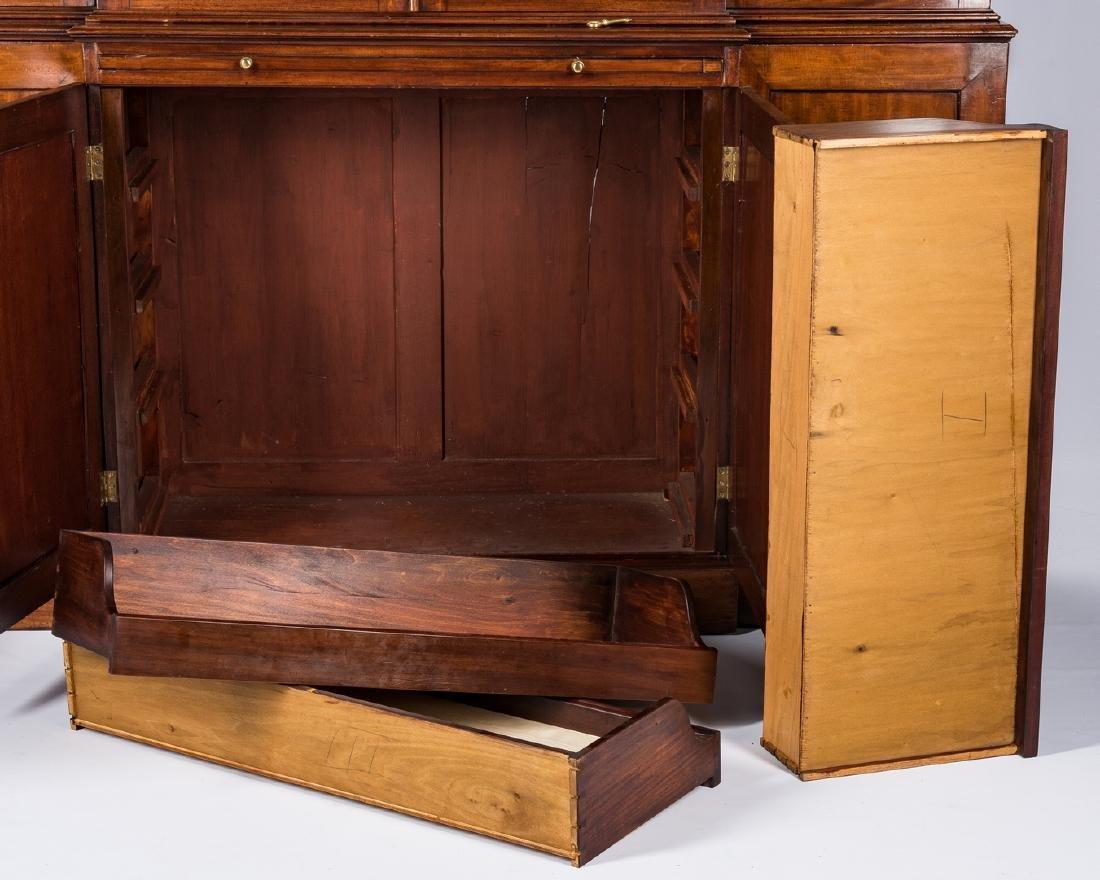 Diminutive Regency Breakfront Bookcase - 6