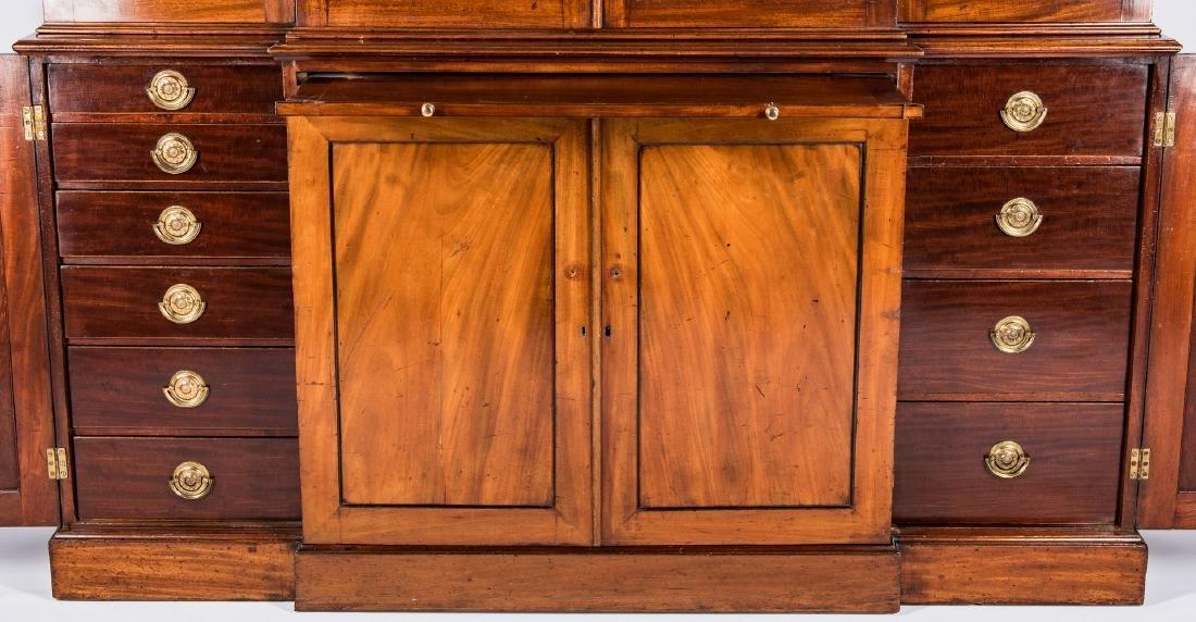 Diminutive Regency Breakfront Bookcase - 7