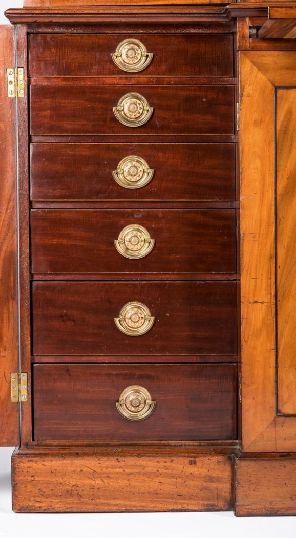 Diminutive Regency Breakfront Bookcase - 8
