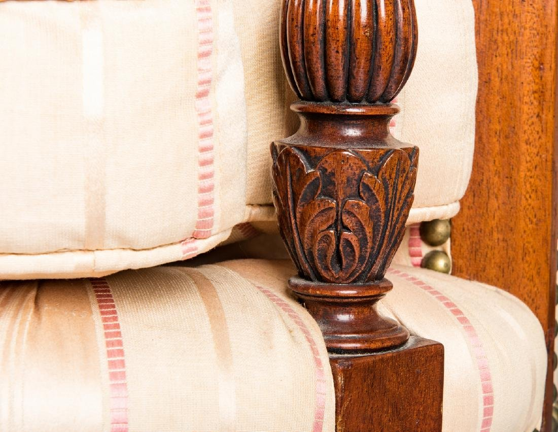 American Federal Carved Mahogany Square-Back Sofa - 10