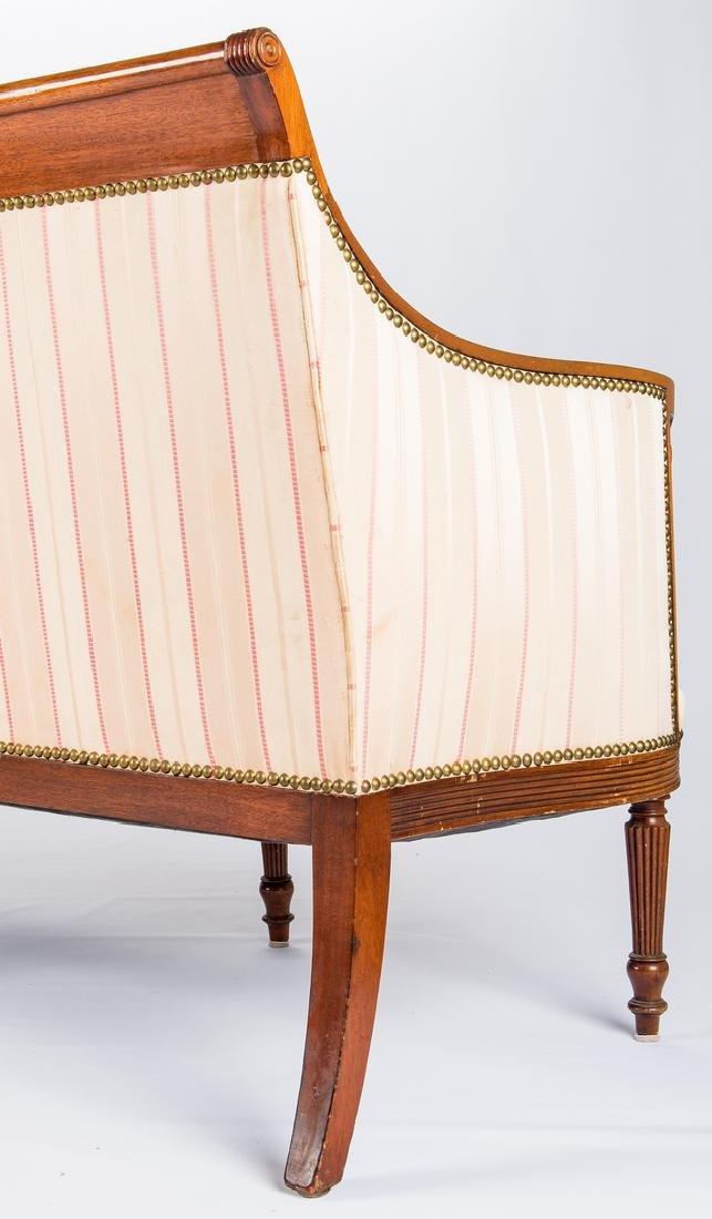American Federal Carved Mahogany Square-Back Sofa - 12
