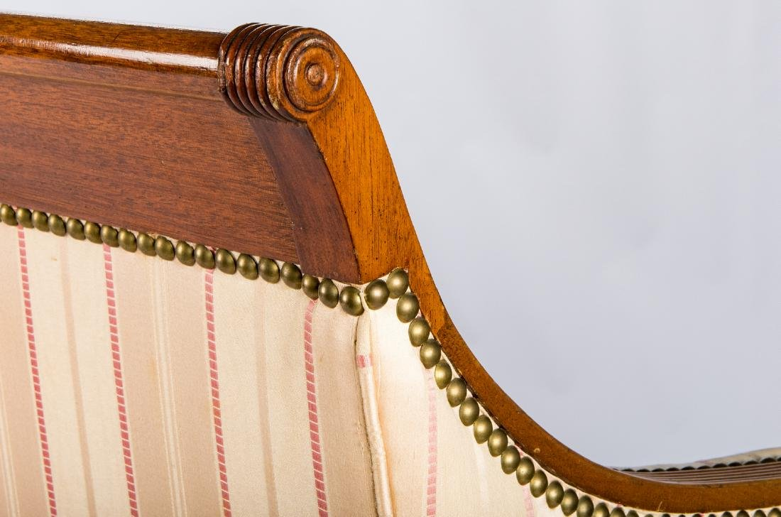 American Federal Carved Mahogany Square-Back Sofa - 13