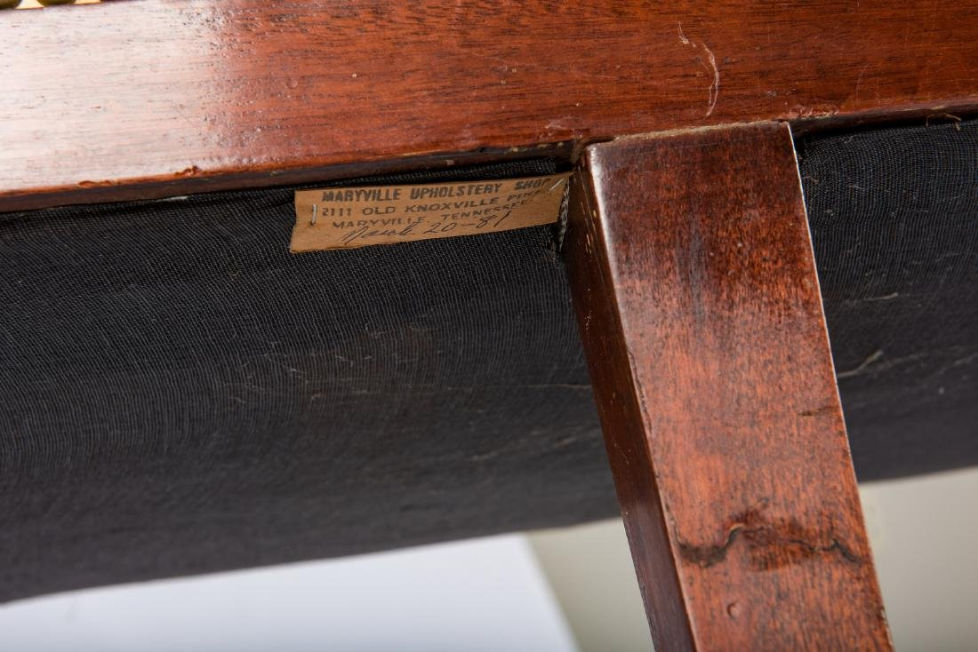 American Federal Carved Mahogany Square-Back Sofa - 15