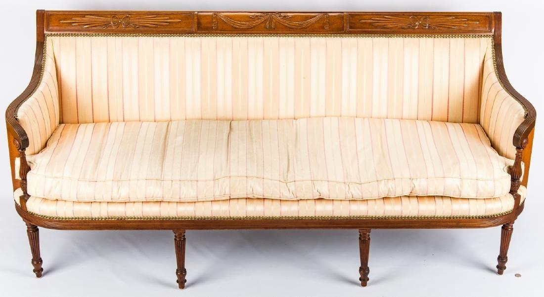 American Federal Carved Mahogany Square-Back Sofa - 16