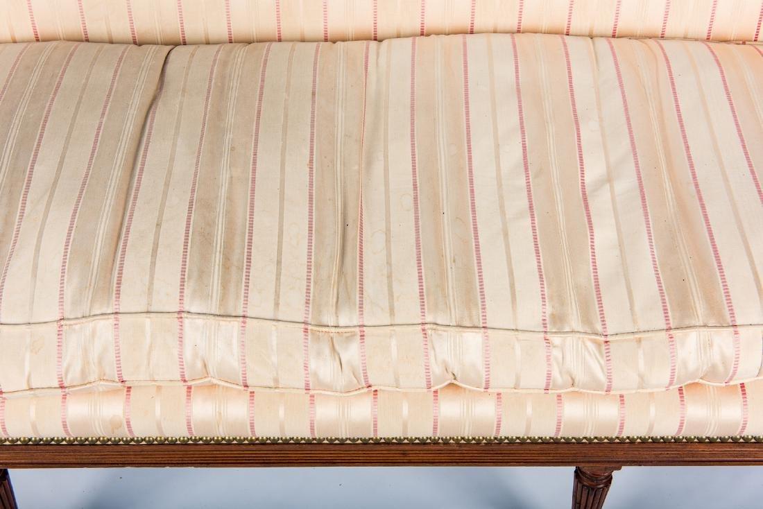 American Federal Carved Mahogany Square-Back Sofa - 17