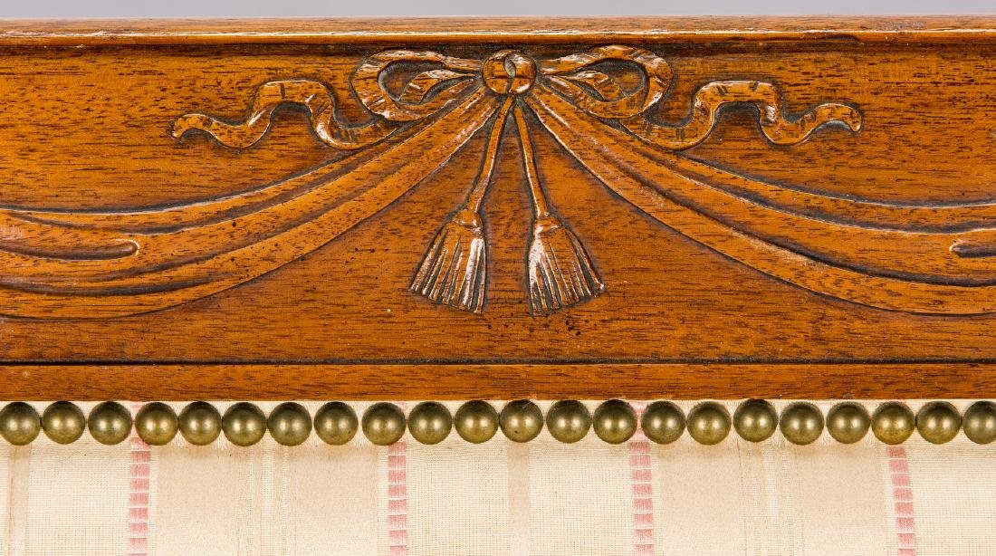 American Federal Carved Mahogany Square-Back Sofa - 5