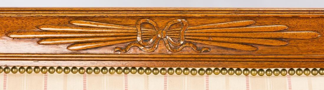 American Federal Carved Mahogany Square-Back Sofa - 6