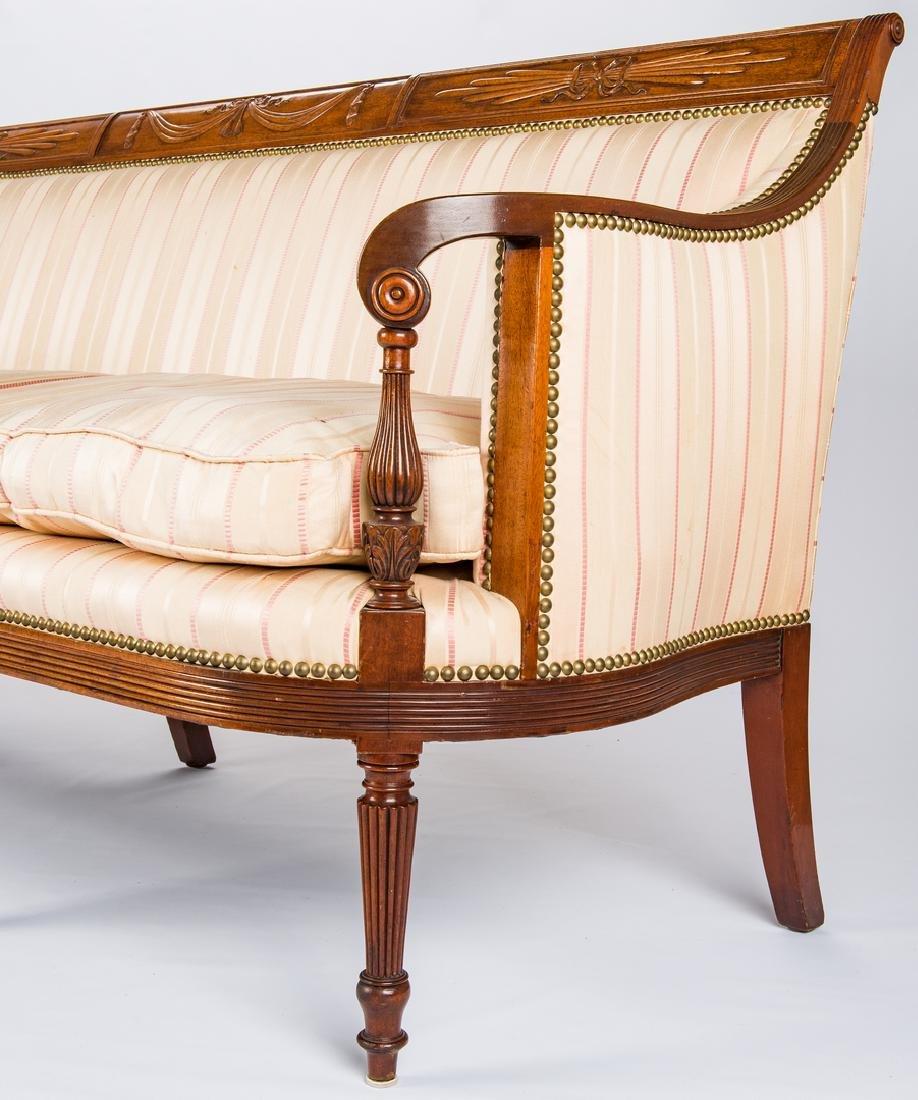 American Federal Carved Mahogany Square-Back Sofa - 7