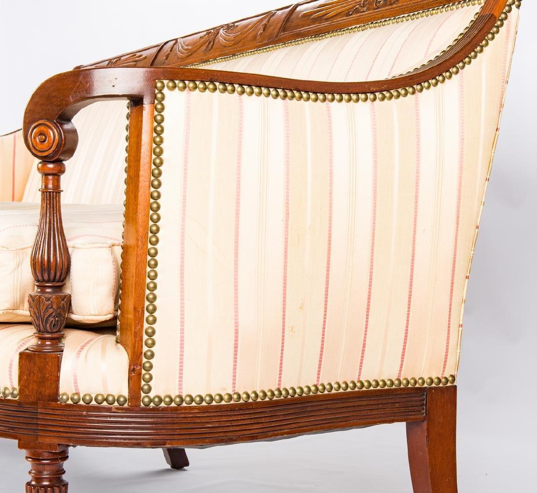 American Federal Carved Mahogany Square-Back Sofa - 8