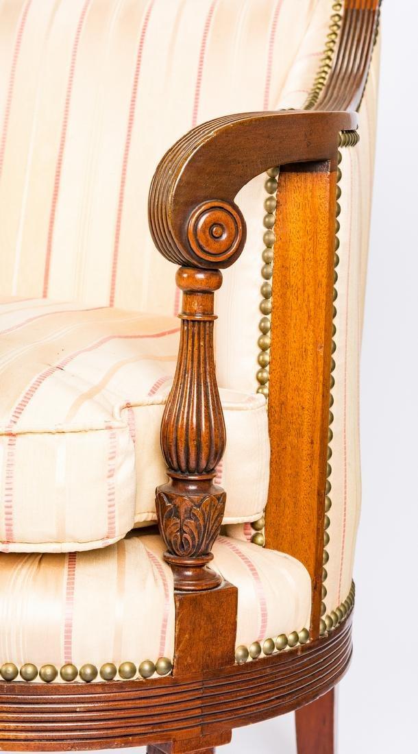 American Federal Carved Mahogany Square-Back Sofa - 9