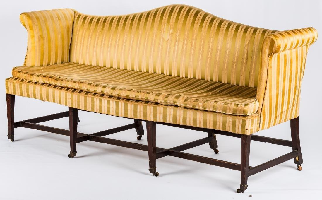 Federal Inlaid Camel Back Sofa - 2