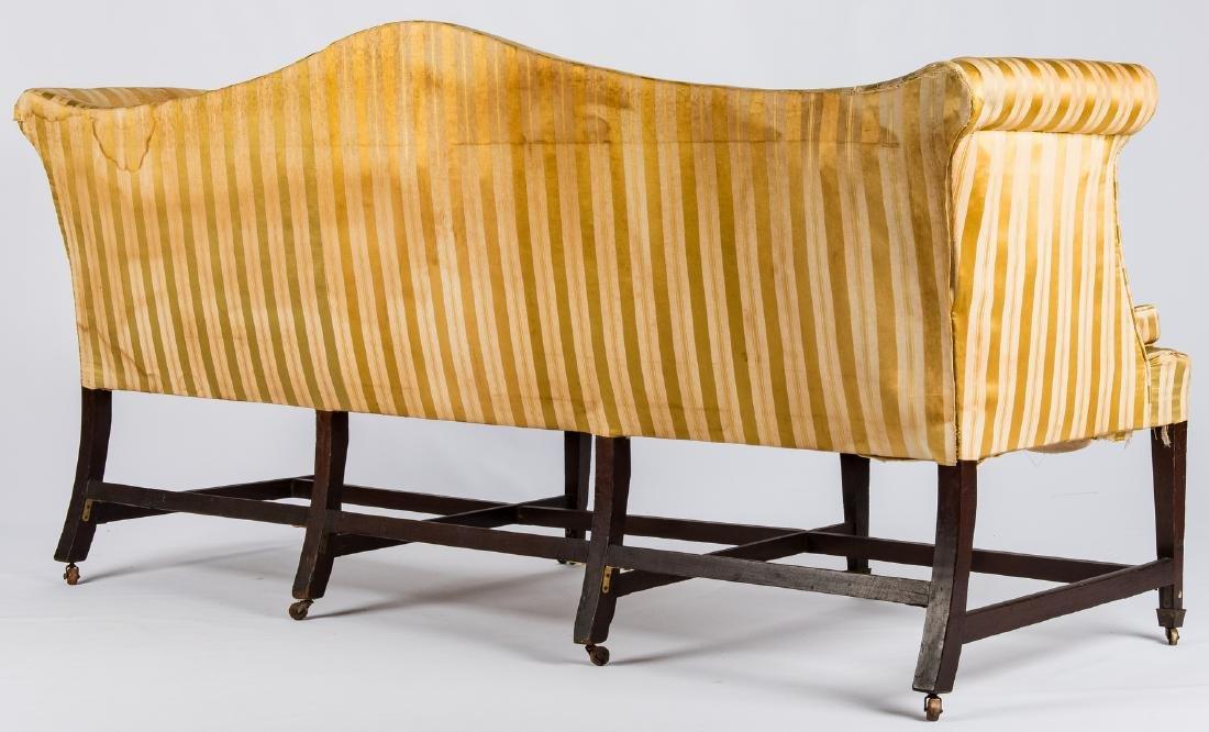 Federal Inlaid Camel Back Sofa - 4