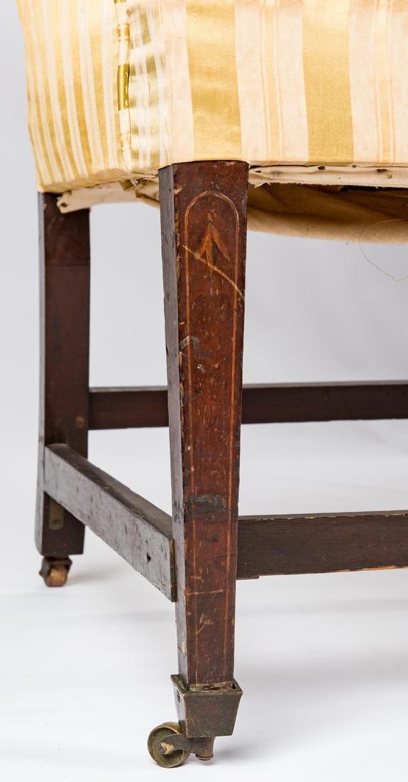 Federal Inlaid Camel Back Sofa - 6