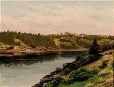 Xanthus Smith Oil on Canvas Landscape