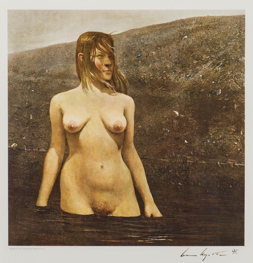 Andrew Wyeth Signed Collotype, Seabed
