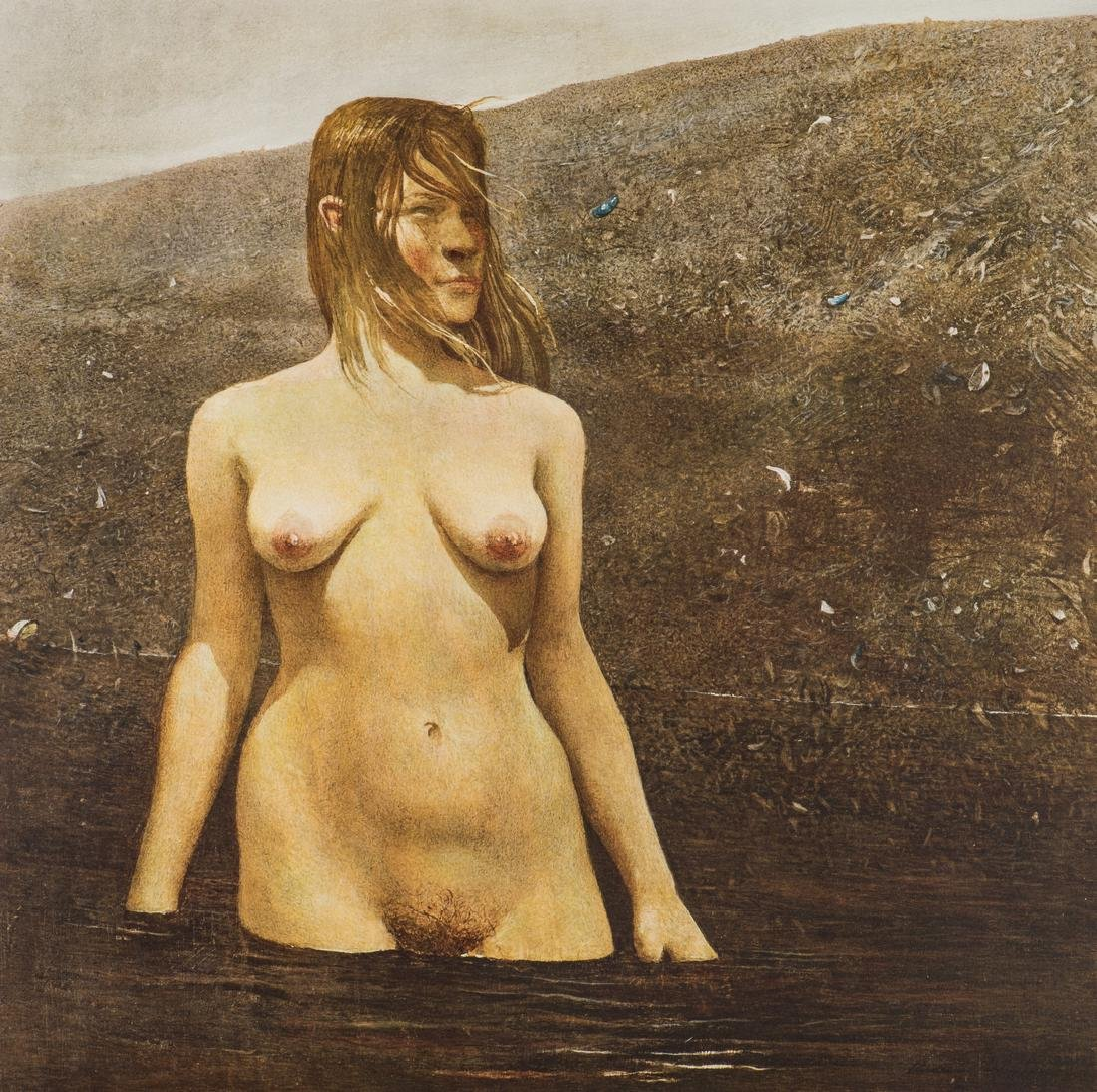 Andrew Wyeth Signed Collotype, Seabed - 3