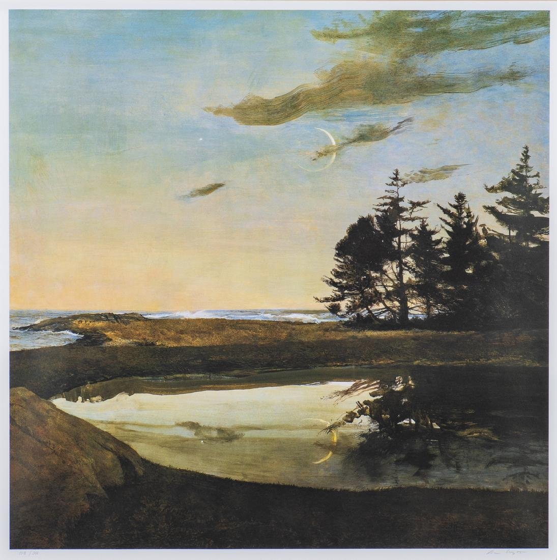 Andrew Wyeth Signed Print, Jupiter