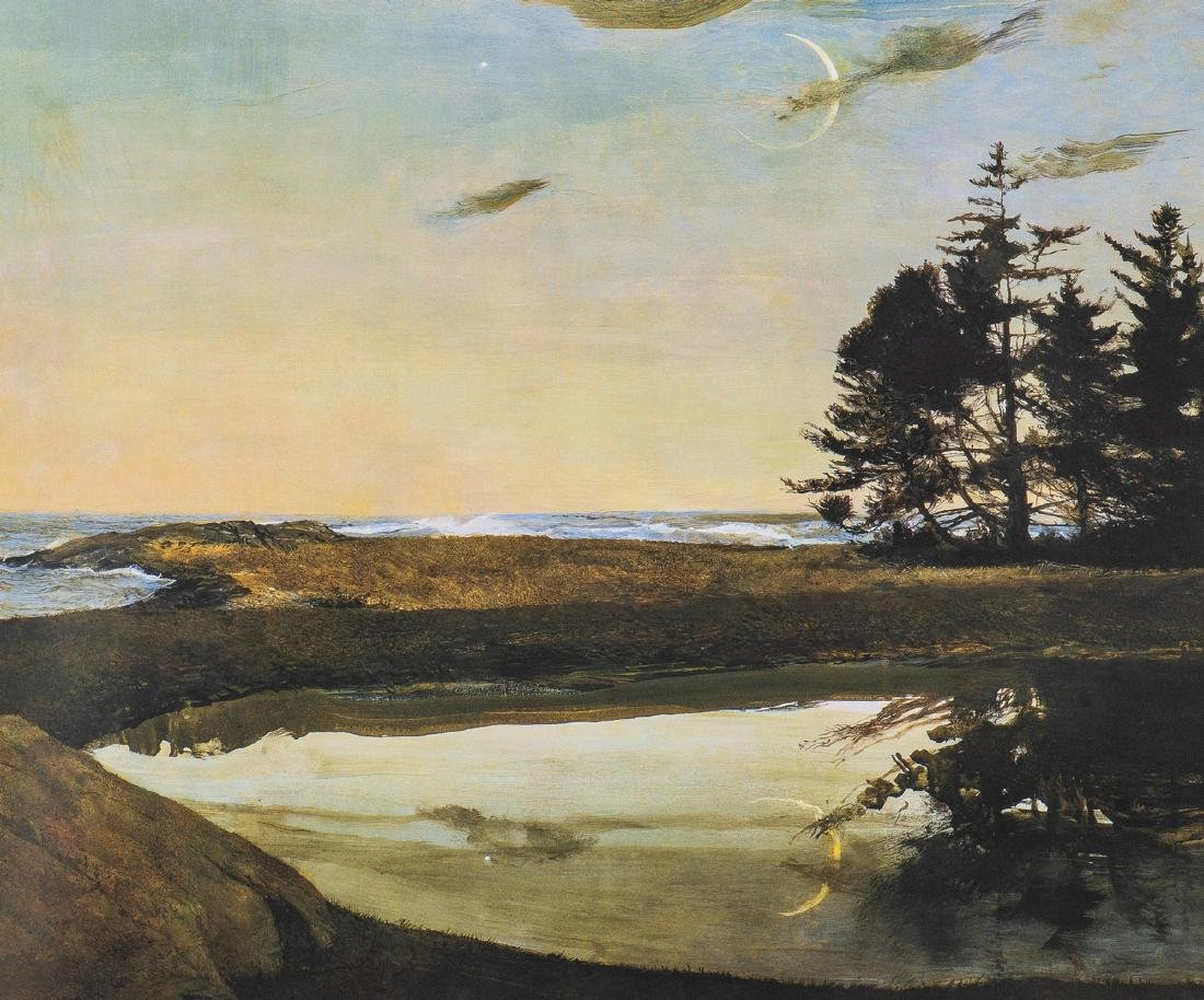 Andrew Wyeth Signed Print, Jupiter - 2