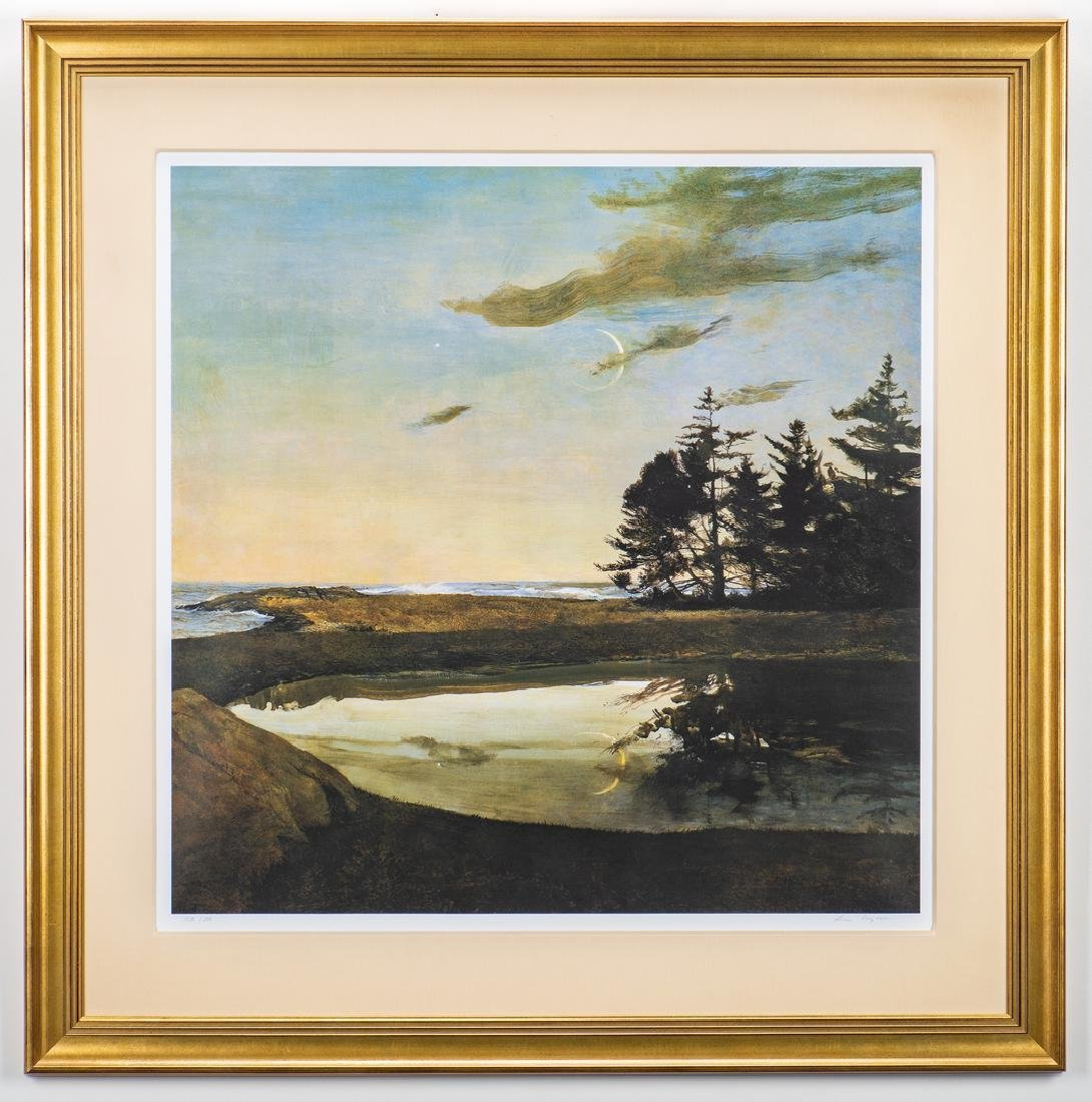 Andrew Wyeth Signed Print, Jupiter - 3