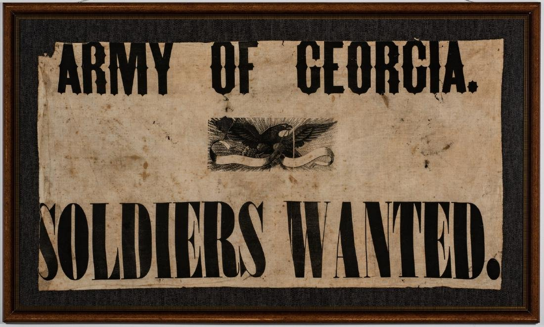 Army of GA Soldiers Wanted Banner, circa 1864