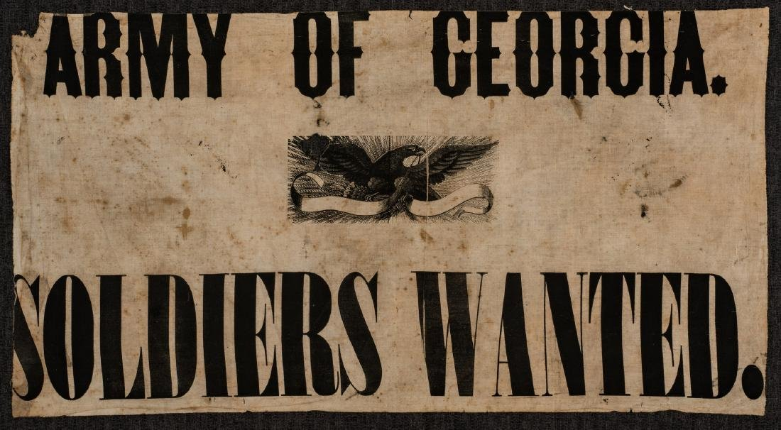 Army of GA Soldiers Wanted Banner, circa 1864 - 2