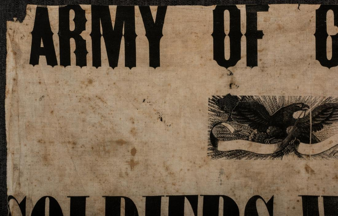 Army of GA Soldiers Wanted Banner, circa 1864 - 3