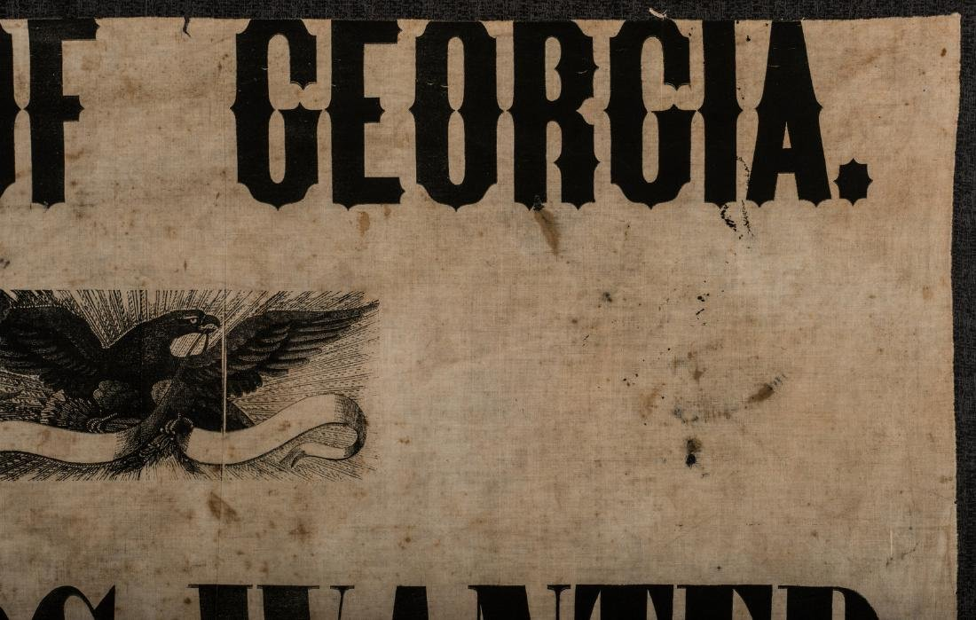 Army of GA Soldiers Wanted Banner, circa 1864 - 4
