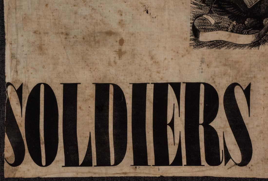 Army of GA Soldiers Wanted Banner, circa 1864 - 5