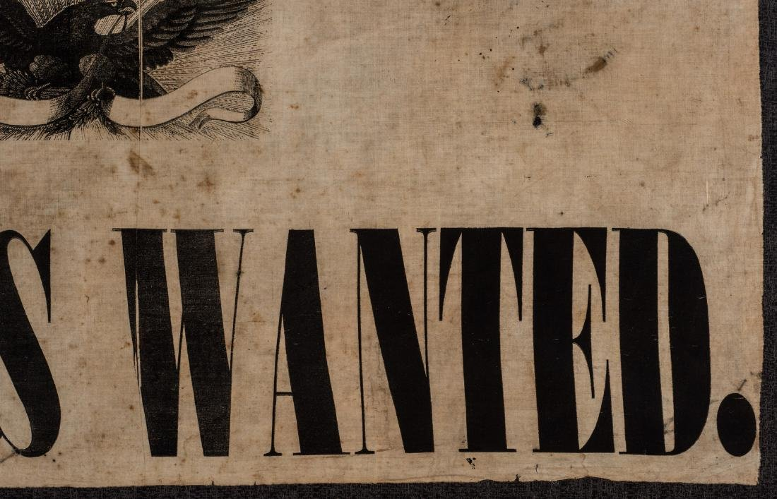 Army of GA Soldiers Wanted Banner, circa 1864 - 6