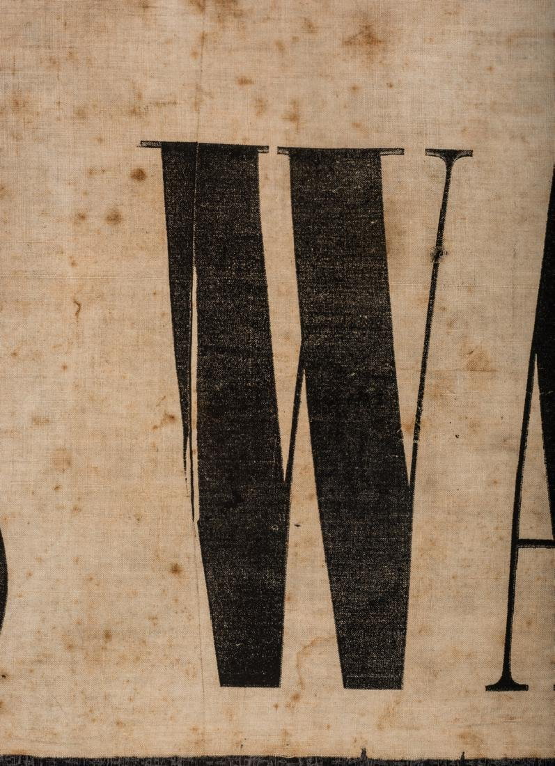 Army of GA Soldiers Wanted Banner, circa 1864 - 9