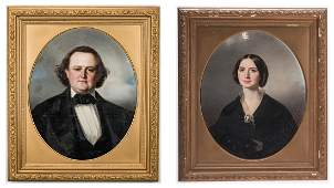 Portraits of Lt. Col. Lewis Minor Coleman and Mary