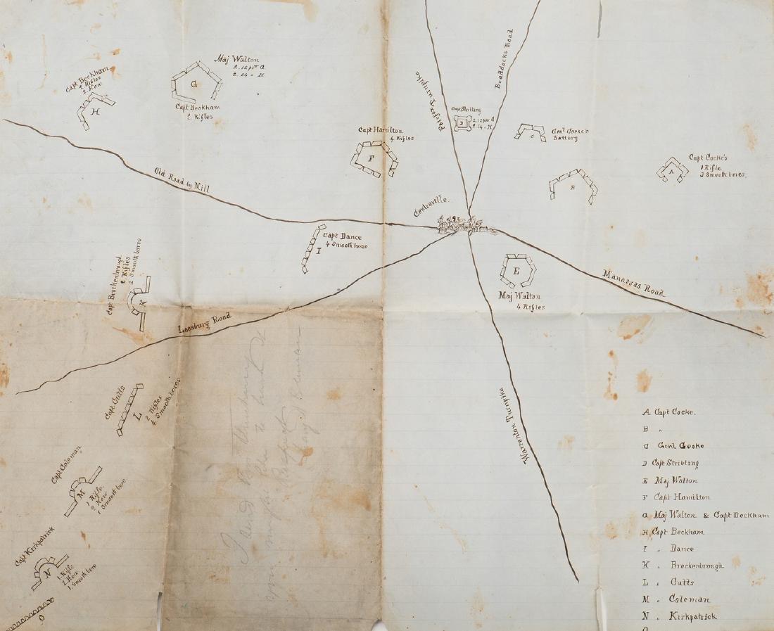 Civil War CSA Pre Battle of Bull Run Artillery Position