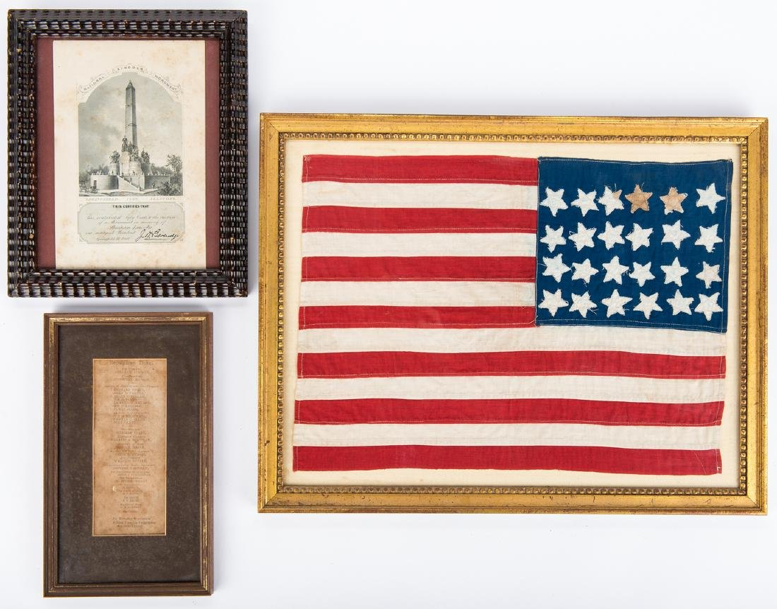 24-star flag plus Lincoln items