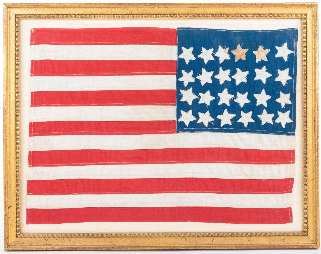 24-star flag plus Lincoln items - 8