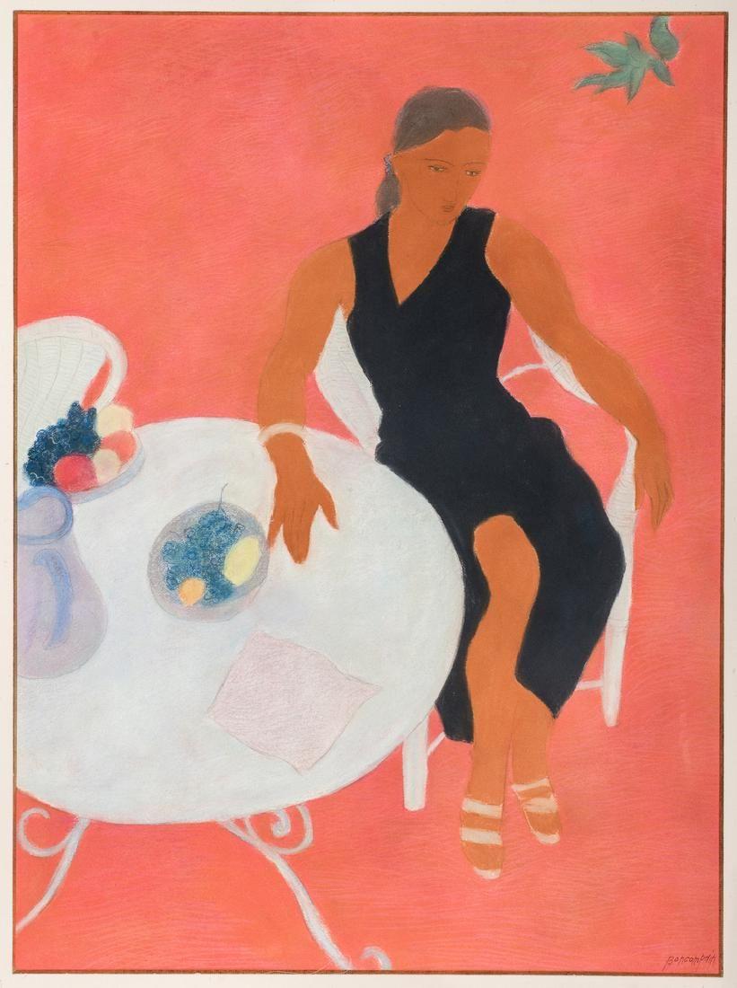 Pierre Boncompain Pastel, Woman at Table