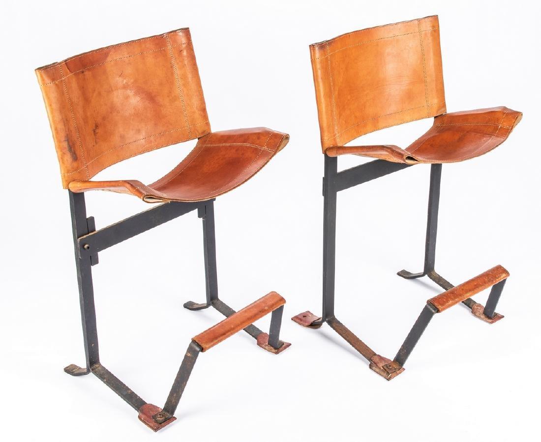 Pair Max Gottschalk Mid Century Bar stools - 11