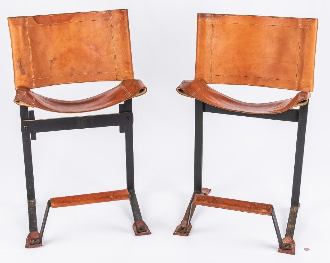 Pair Max Gottschalk Mid Century Bar stools - 12