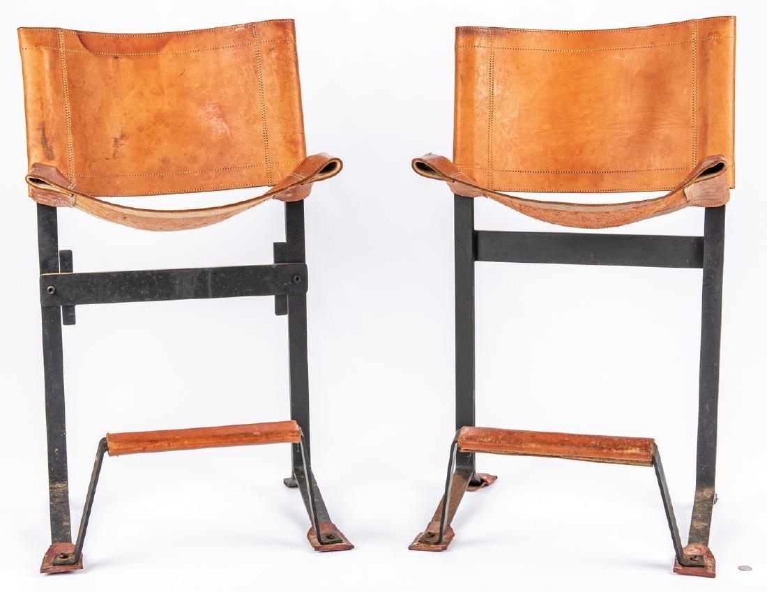 Pair Max Gottschalk Mid Century Bar stools - 13