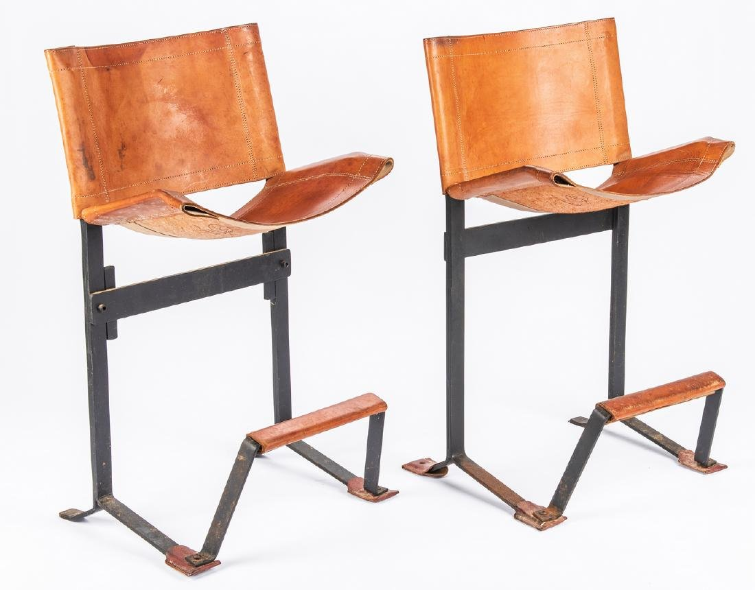 Pair Max Gottschalk Mid Century Bar stools